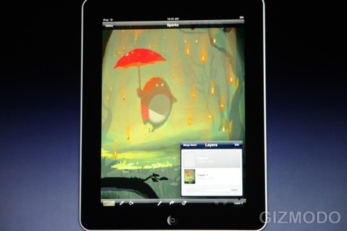 ipad 39 s brushes app like paint but with multitouch. Black Bedroom Furniture Sets. Home Design Ideas