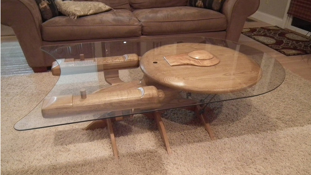 the coolest coffee table ever. (star trek related)